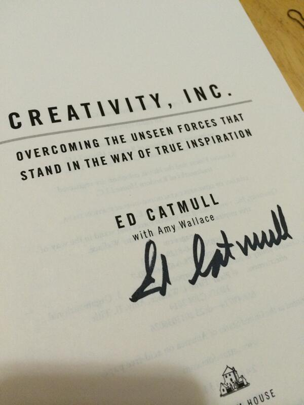 Too excited to dive into this book. Ed Catmull gave a great talk today! http://t.co/KFGgBKhsrC