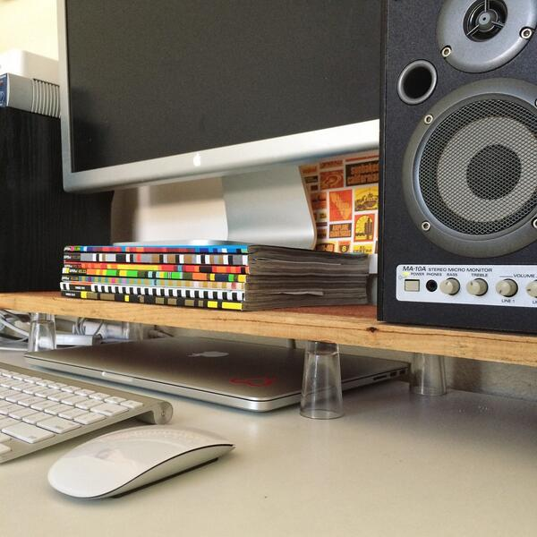 Ian Silber On Twitter Diy Monitor Stand Using A Plank Of