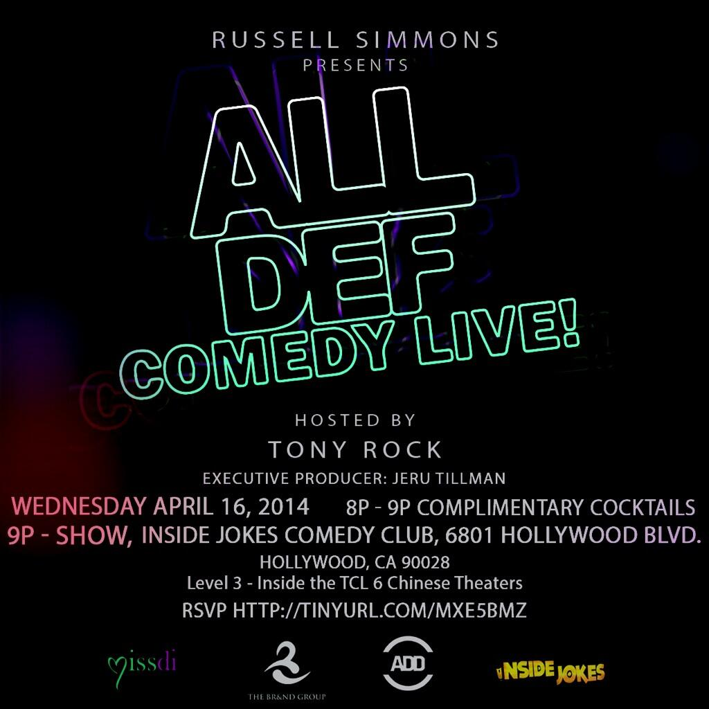 RT @AllDefDigital: TONIGHT! #AllDefComedyLIVE at @InsideJokesLA with special guest host @Naimthestar! http://t.co/hXMcKyWzBU