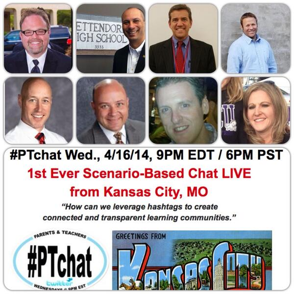 Don't miss #ptchat tonight-HASHTAGS TO ENGAGE FAMILIES w/ these edus via livestream from KC https://t.co/veenX7T6HJ http://t.co/1MMEqRVrkd