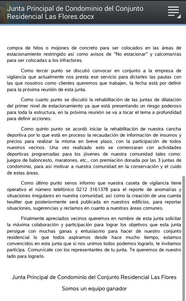 JuntaCondLasFlores (@juntalasflores) | Twitter