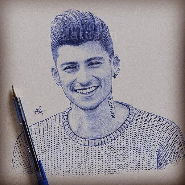 Artistiq On Twitter Pen Drawing Of Zayn At Zaynmalik