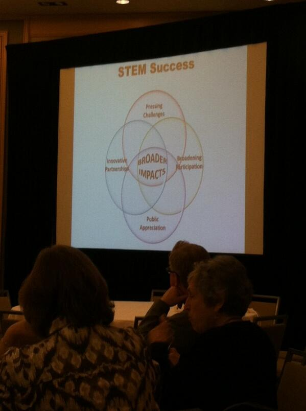 Great graphic by Dr. Nancy Cantor illustrating that BI is integrated in STEM not an add-on #BIIS14 http://t.co/kXAFeFqVGD