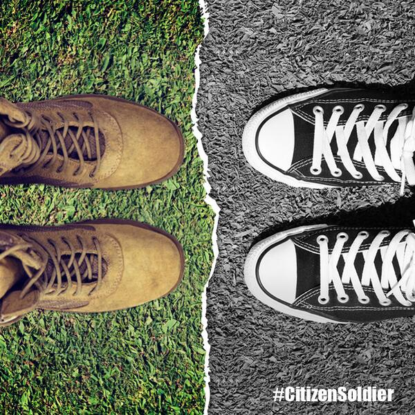 From Sneakers to Combat Boots. Every #NationalGuard Member is a #CitizenSoldier. http://t.co/wXmKuQ2PiP
