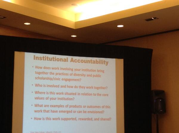 Impact and institutional accountability: some interesting question by Nancy Cantor #BIIS14 http://t.co/ZsbyTvpkvh