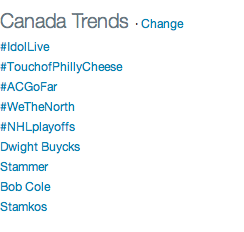 #RTZ RT @kevin_mcgran: How 'bout this: @Raptors #WeTheNorth trending ahead of NHL playoffs…in Canada. http://t.co/nF1F6zqp42