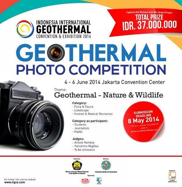 Geothermal Photo Competition. Total Grand Prize Rp. 37.000.000. more info: http://t.co/cr2YQraftX http://t.co/cvfg3LwFJT