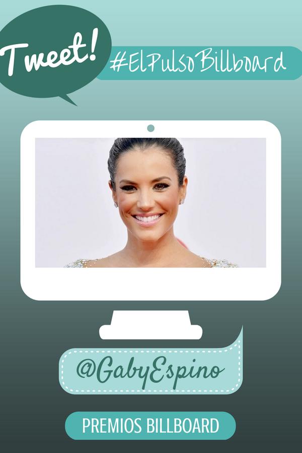 Menciona @gabyespino en sus tweets con #ElPulsoBillboard ya! @LatinBillboards http://t.co/nbmauD1Ucy