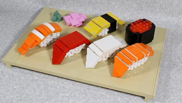 3万円のお寿司が話題になっていたのでレゴでお寿司作りました! pic.twitter.com/xyY7siw08H