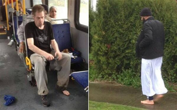 Muslim man gives his footwear to shoeless commuter and walks home barefoot http://t.co/8EPQYSSoja http://t.co/XIvWFsXuVA