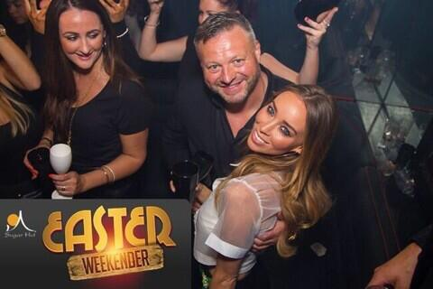 The lovely @LaurenPope with @micky_norcross On Friday night @sugarhut http://t.co/dSEtmeefPX