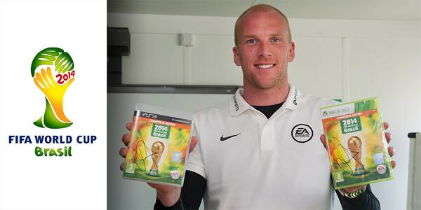 WIN a copy of @EASPORTSFIFA 2014 World Cup Brazil for X360 or PS3 signed by @Johnruddy86. Follow us and RT to enter! http://t.co/YsrhXpZwlA