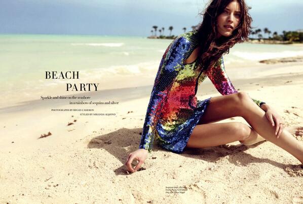 031a7101f18c  BeachParty for the model  MarikkaJuhler on the April 2014 issue of  Harper s Bazaar UK