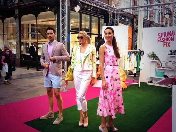 Strutting our stuff at the Spring Fashion Fix in @VQLeeds today. #summerstyle http://t.co/BOg9YTPxnW