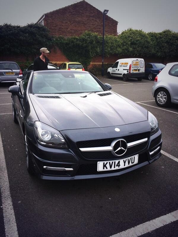 My @MercedesBenz has been upgraded to a brand new 350 SLK AMG with all the toys. Crafty. #upgrademenow http://t.co/9ZR2S0JMi2