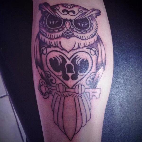 Isaac Ruiz On Twitter Búho Tatuado En Pantorrilla Y Es Mi