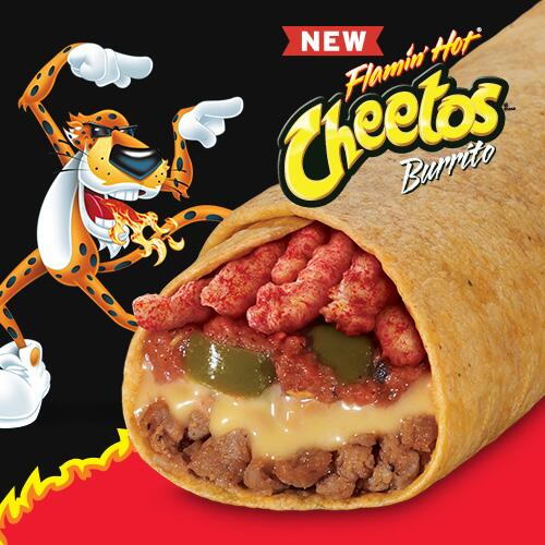 You have to taste it to believe it: the new Flamin' Hot® Cheetos® Burrito at Taco John's. http://t.co/py9SfF12PE