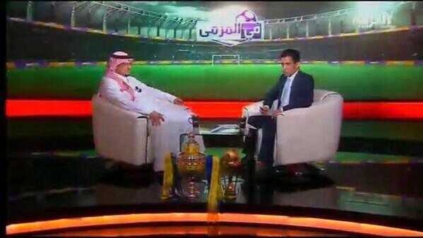 يوتيوب لقاء كحيلان مع بتال القوس فى برنامج في المرمى على قناة العربية الخميس 17-4-2014