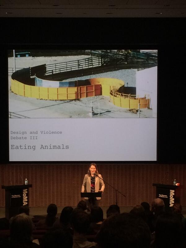 """@MoMA_Live: Curator and debate moderator Paola Antonelli (@curiousoctopus) welcomes the audience. #desviolenz http://t.co/aIBtGi1cld"" here!"