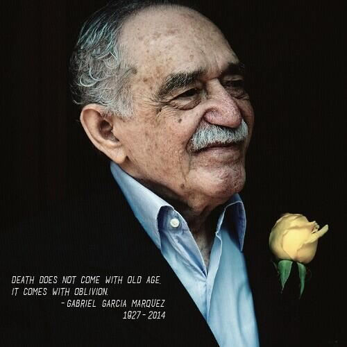 Death does not come with age.Death comes with oblivion. #GraciasGabo   http://t.co/XdEeki9qvs http://t.co/znMrjRP2Jj