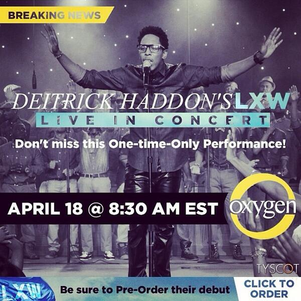Excited to present the @DeitrickHaddon #LXW concert tomorrow w/ @Oxygen. We're living out loud and taking it by force http://t.co/6b1NtiOED7