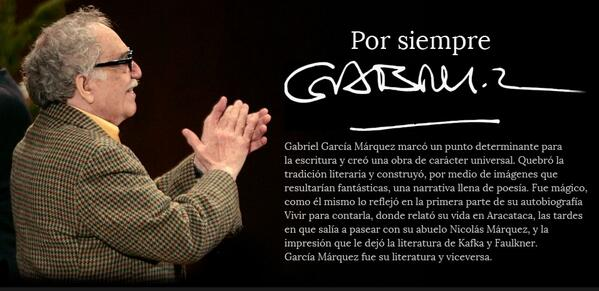 Por Siempre Gabo #GabrielGarciaMarquez http://t.co/b1x9g0W8PI http://t.co/hgg5EMu1kf