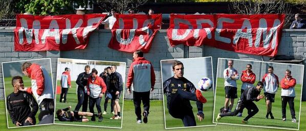Blg2tiMIYAA XRP Jose Enrique returns to Liverpool training, Lucas Leiva welcomes him back on Twitter