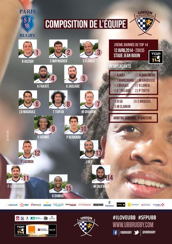 TOP 14 - 25ème journée : Stade Français / UBB - Page 3 Blg86BsCUAAyqbq