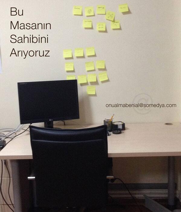 Sosyal medya monitoring alanında tecrübeli çalışma arkadaşları arıyoruz.  Başvuru: onualmabenial@somedya.com http://t.co/jThxlbRT84