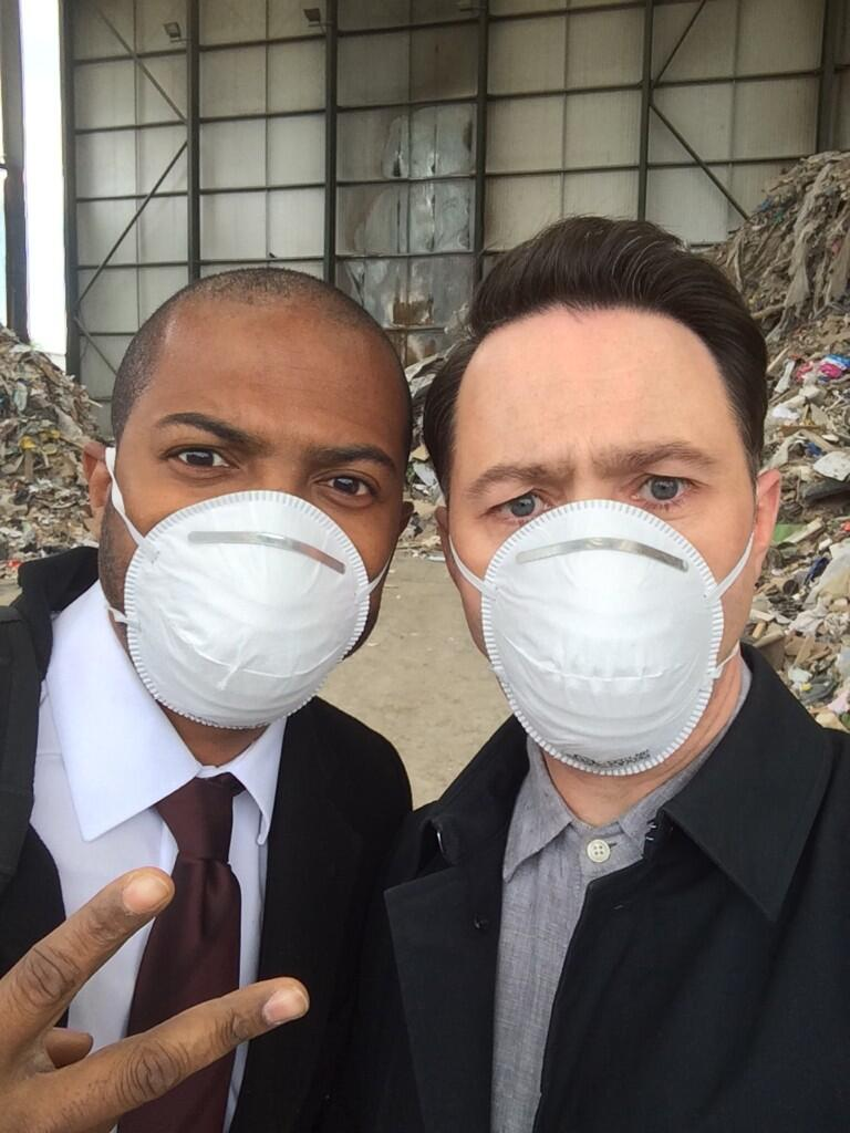 RT @ReeceShearsmith: About to film my last scene with @NoelClarke. Choked up. http://t.co/mwzs9ZFKw3