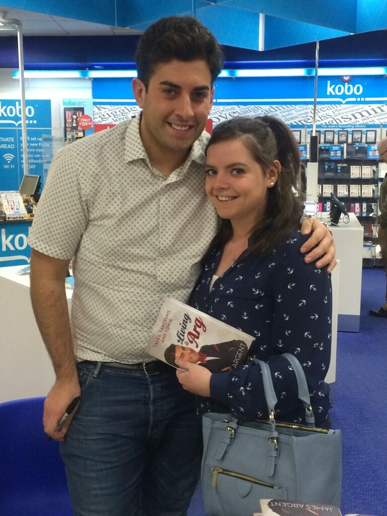 RT @megan_croot: So I met @RealJamesArgent today!! The book has already been started :) http://t.co/J9cDuZ4LM8