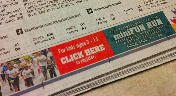 Hmm, nobody is clicking our banner ads. Let's try them on print. (via @spencerholladay) http://t.co/ta0HmLnACv