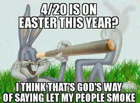 Happy Easter to everyone who celebrates, however they celebrate this weekend!! #420 http://t.co/ZKb6UMj1xV