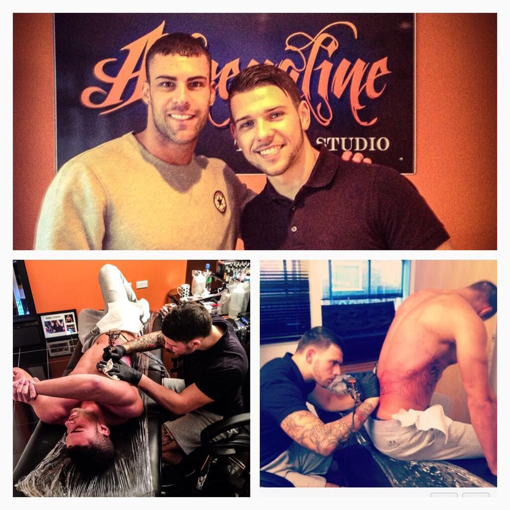 RT @JayTAT2: Me and @JayGShore at my studio #adrenalinetattoostudio http://t.co/EhAioqPtur
