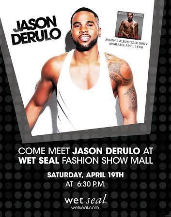 RT @wetseal: #Derulers! Meet @jasonderulo at our @FashionShowMall store tomorrow at 6:30PM! http://t.co/daRmlwgyrO