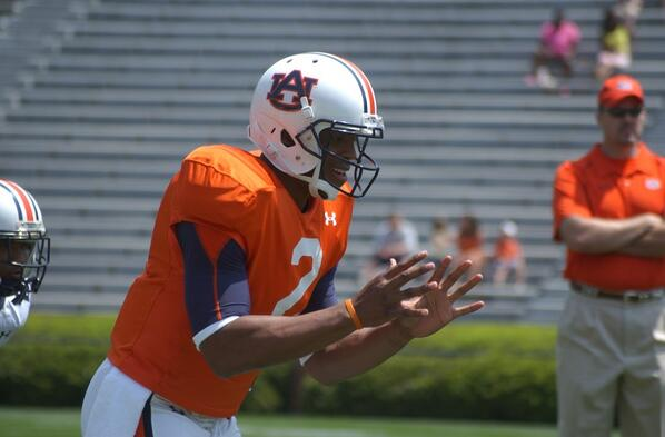 Four years and one day ago: Cam Newton warms up at A-Day. http://t.co/68kXGv9Ndd