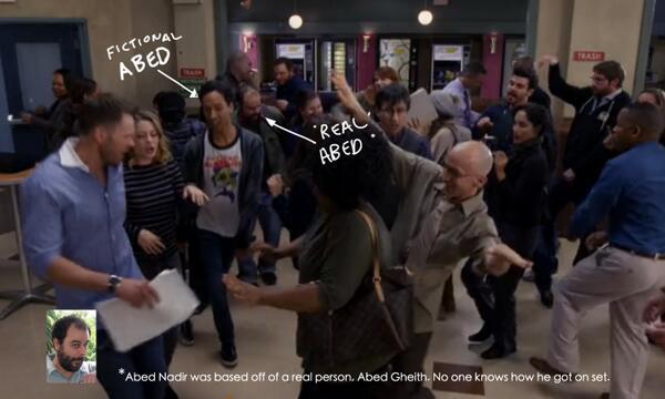 #nbcCommunity Season finale EASTER EGG! #SaveGreendale http://t.co/R4QQ5mxJMh