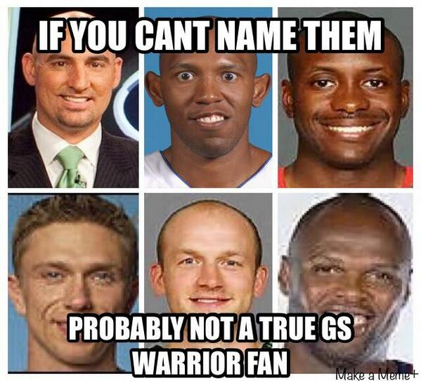 Nba Meme Team On Twitter How Many Warriors You Name Credit