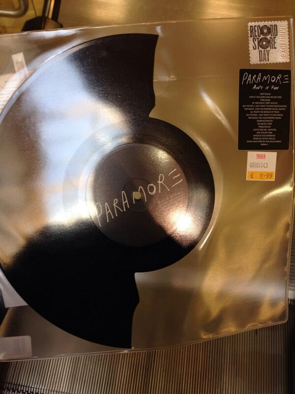 Happy Record Store Day from @TowerDublin  #ParamoreRSD http://t.co/93hwLAc5VD
