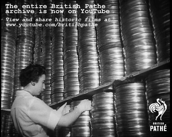 .@BritishPathe are uploading their entire catalogue of 85,000 films to YouTube. WOW… http://t.co/mbCNBq1z3I http://t.co/c8fwhDMkbM
