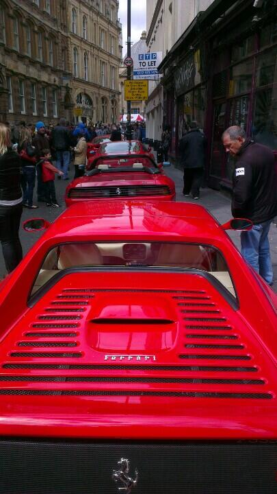 RT @Beerymatt: @carolvorders Reasons to love Bristol #132: Stumbling across a street full of Ferraris! http://t.co/cTDQdO7Hkh