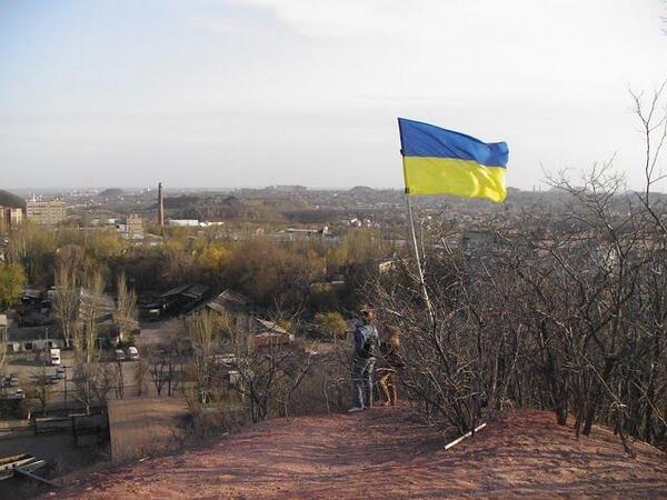 Жители Донецка встали на защиту флага Украины - Цензор.НЕТ 2022