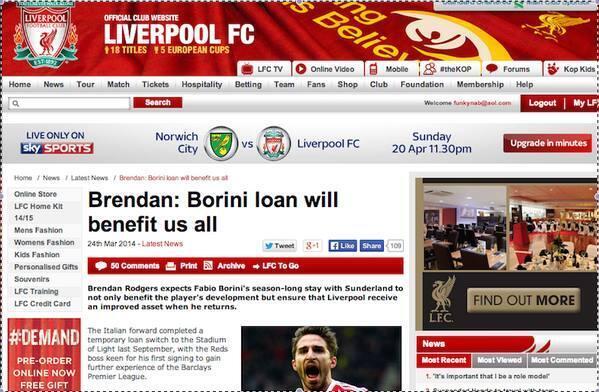 Liverpool fans hail secret agent Fabio Borini & thank Brendan Rodgers for sending Italian to Sunderland!