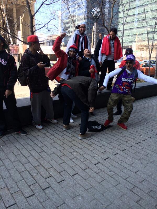 Fans stomping on Brooklyn gear outside the ACC #RTZ http://t.co/FDBGu6guZx
