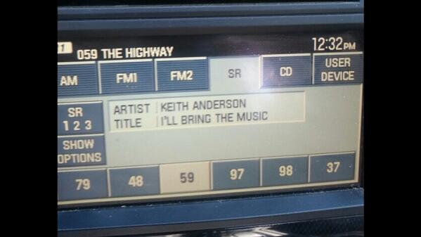 "HELL YEAH!!! Thanks to @SXMTheHighway for playing my new song, ""I'll Bring The Music"" today! #OnTheHorizon AWESOME!! http://t.co/xIARExd6b3"