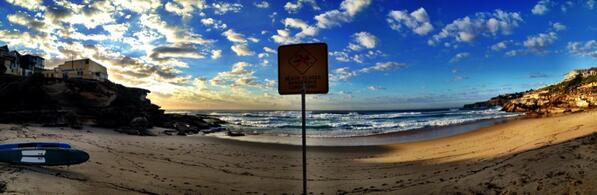 Such a nice morning here at Tamarama! #HappyEaster http://t.co/2sAEiRpoxd