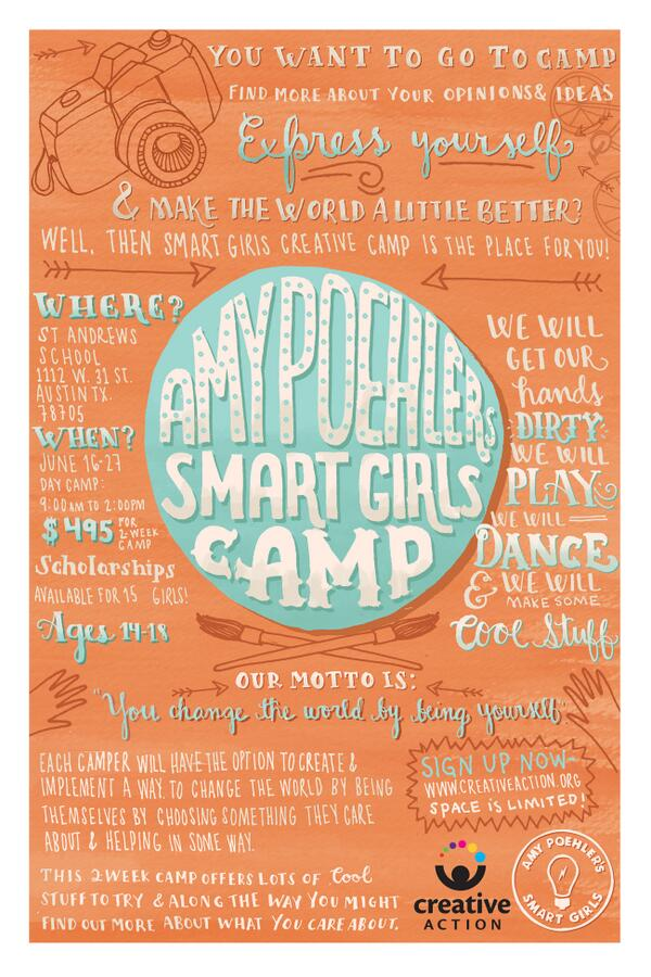 Do you live in #ATX? Join @smrtgrls & @CreativeATX for Summer Camp! This year we will be using #art as #activism! http://t.co/ySMIEpPxKd