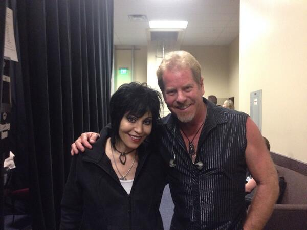 Brad with our favorite Runaway, @joanjett !  Thank you for a great show, Valley Center, CA! http://t.co/02OIu0hhyp