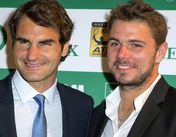 Roger Federer e Stan Wawrinka al Torneo di Tennis di Monte Carlo (Pasqua 2014)