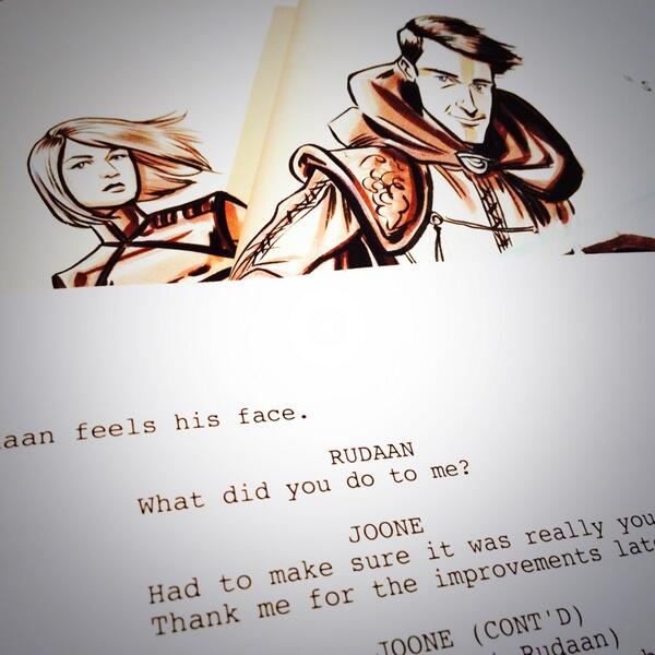 #saturday #script 1st read through  #episodes #rock #happy #lovewhatido #Luminous http://t.co/I7wytG1OVS